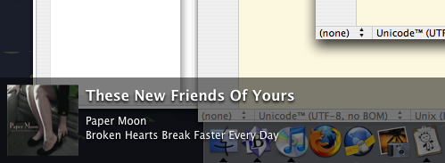 Quicksilver iTunes popup